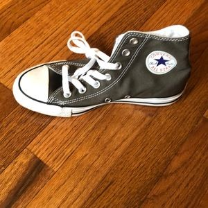 Grey Converse High Top Sneakers Men's 4 Women's 6
